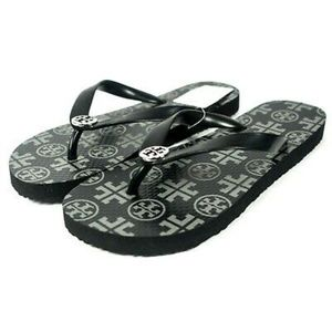 BRAND NEW Tory Burch black flip flops sandals 7.5